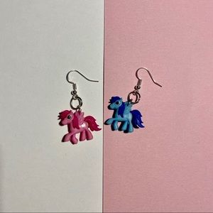 Pink and Blue My Little Pony Earrings!!